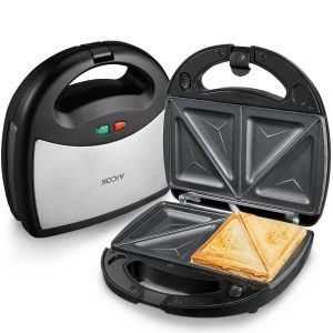Aicok Sandwich Maker, Panini Press Grill, Waffle Maker, American Toaster Maker