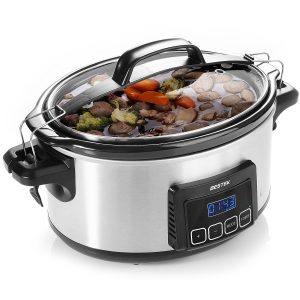 BESTEK 6 Quart Slow Cookers Programmable Digital Timer