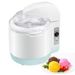 Ice Cream Maker, FociPow Homemade Frozen Yogurt Machine - Best Electric Ice Cream Machine for Kids, Fruit Soft Server Machine,1.5L
