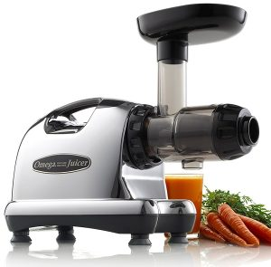 Omega J8006 Nutrition Center Quiet Dual-Stage Slow Speed Masticating Juicer Creates Continuous Fresh Healthy Fruit and Vegetable
