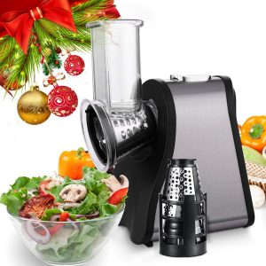 Professional Salad Maker - Electric Slicer/Shredder with One-Touch Control and 4 Free Attachments for Home Use - Fruits | vegetables | Cheeses (Slicer Machine 1)