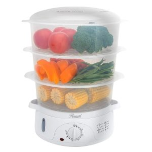Rosewill TY510-01TA BPA-free, 9.5-Quart (9L), 3-Tier Stackable Baskets Electric Food Steamer with Timer, RHST-15001
