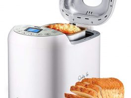 SKG Automatic Bread Machine 2LB - Beginner Friendly Programmable Bread Maker