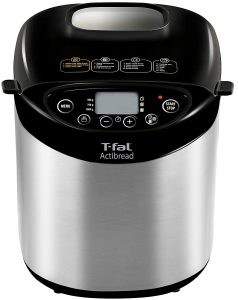 T-fal ActiBread Bread Maker, Bread Machine with Stainless Steel Housing, LCD Display, 2-Pound, Silver, Model PF311E