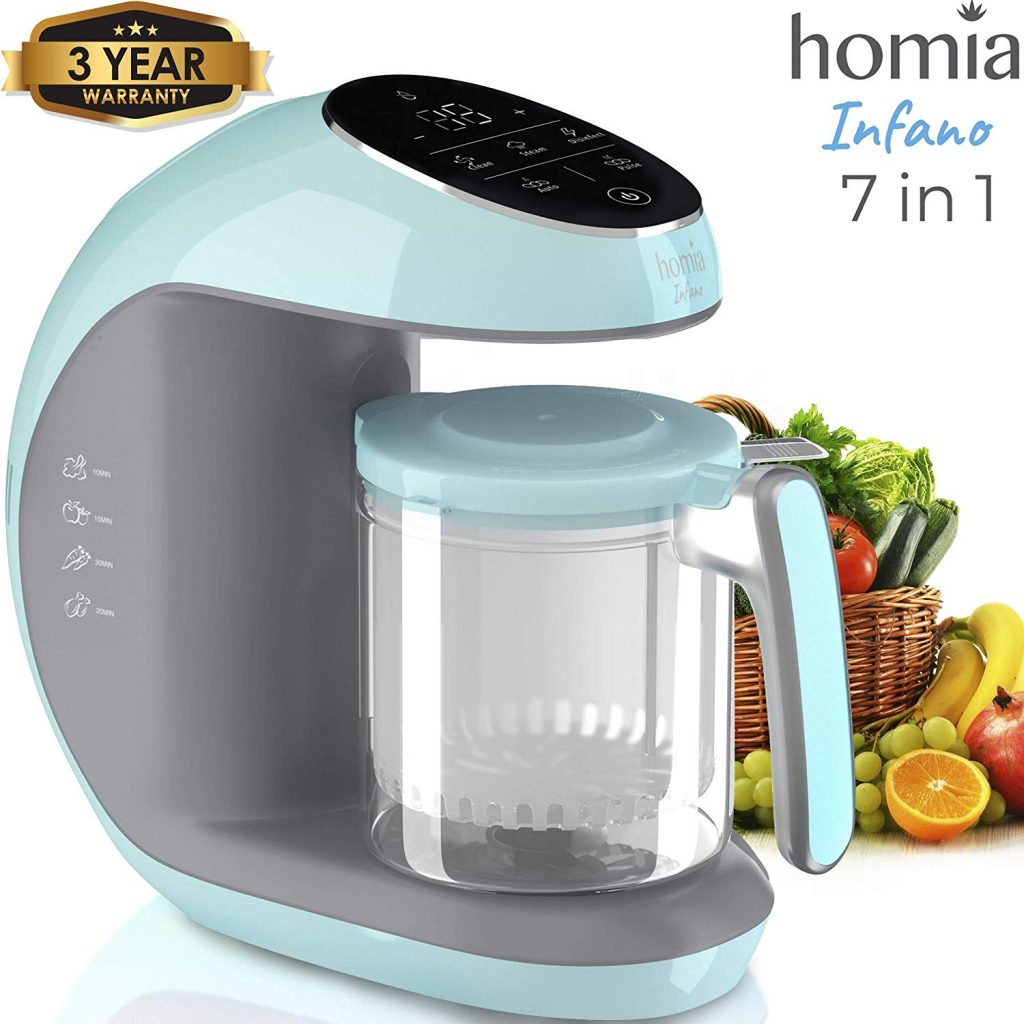 Baby Food Maker Chopper Grinder - Mills and Steamer 7 in 1 Processor For Toddlers