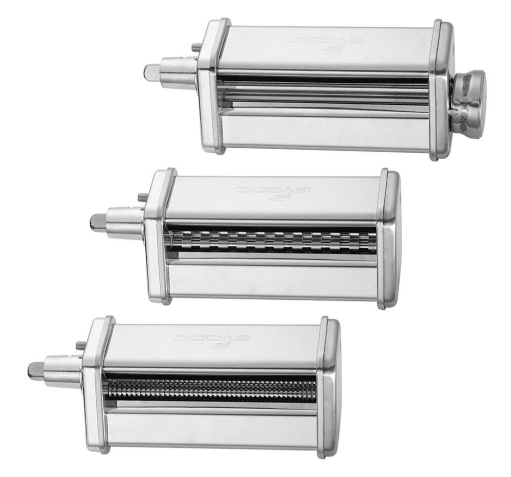 3-Piece Pasta Roller and Cutter Set fit