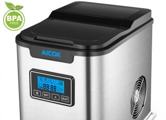 Upgraded Aicok Portable Digital Ice Maker Machine