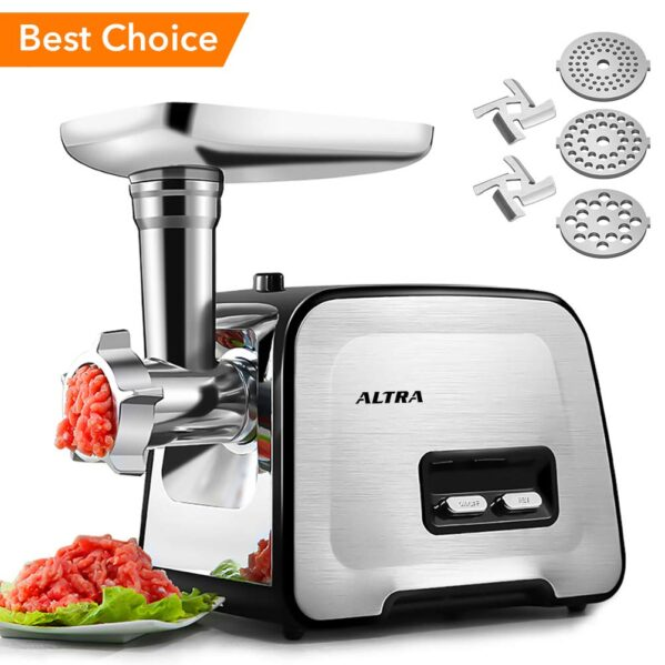 Electric Meat Grinder, ALTRA Stainless Steel Meat Mincer