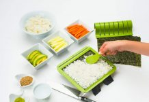 SushiQuik Super Easy Making Kit Complete With Roll Cutter