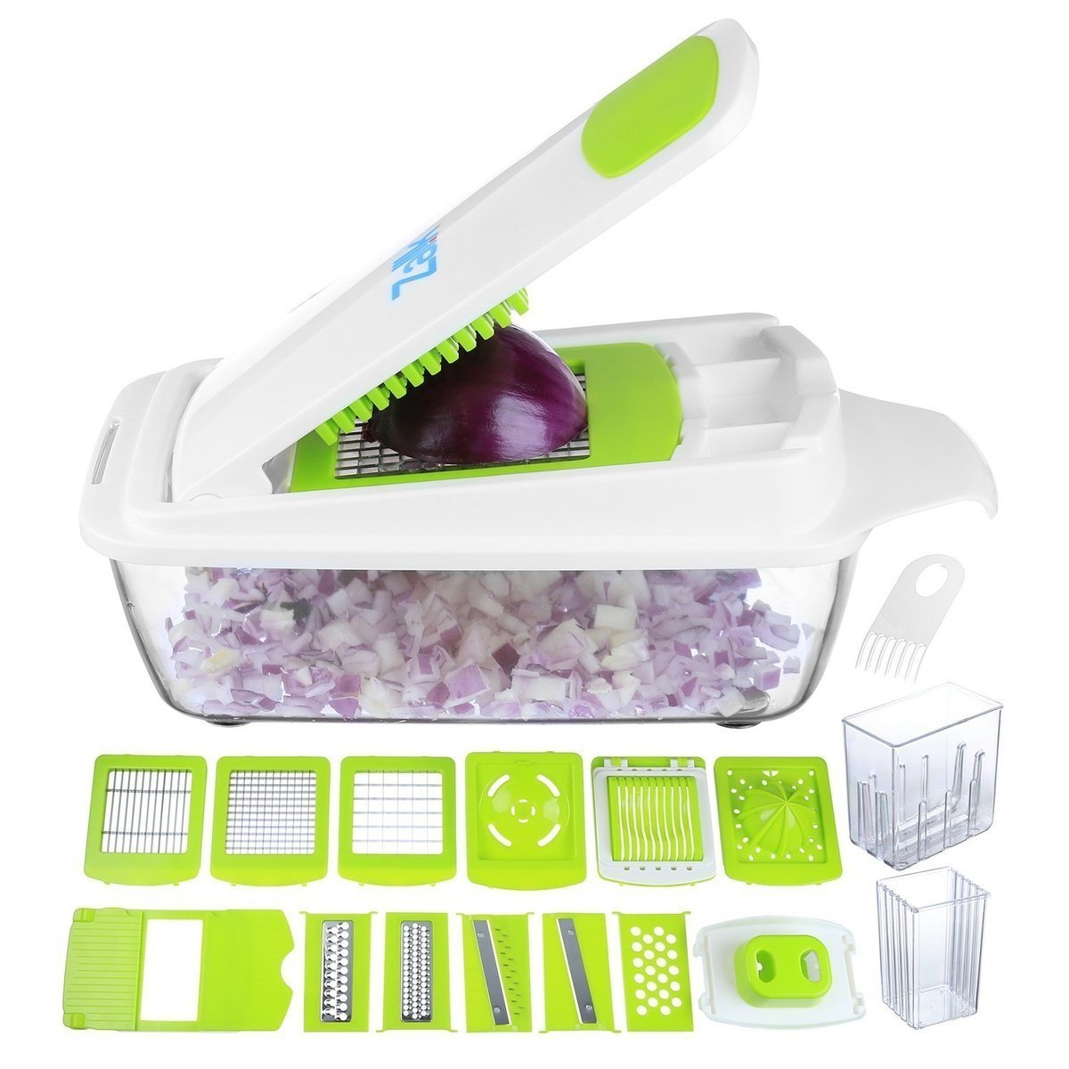 Zalik Vegetable Chopper Pro Onion Chopper - Mandoline Slicer Dicer