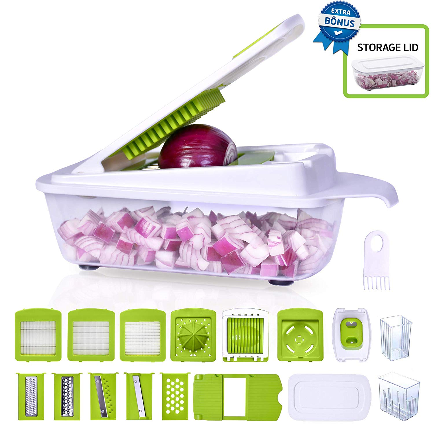 Vegetable Onion Chopper julienne mandoline dicer mincer slicer