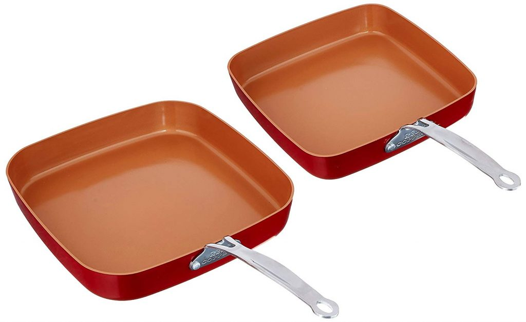Red Copper Cookware 10- and 12-Inch