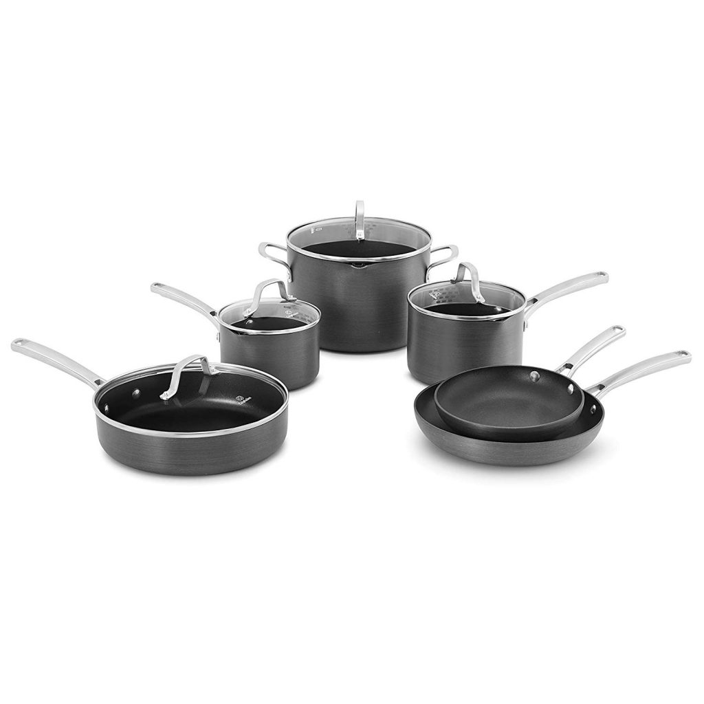 Calphalon Classic Pots and Pans Set, 10-Piece