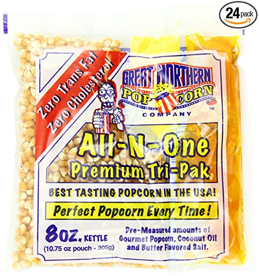 Great Northern Popcorn Premium 8 Ounce Popcorn Portion Packs