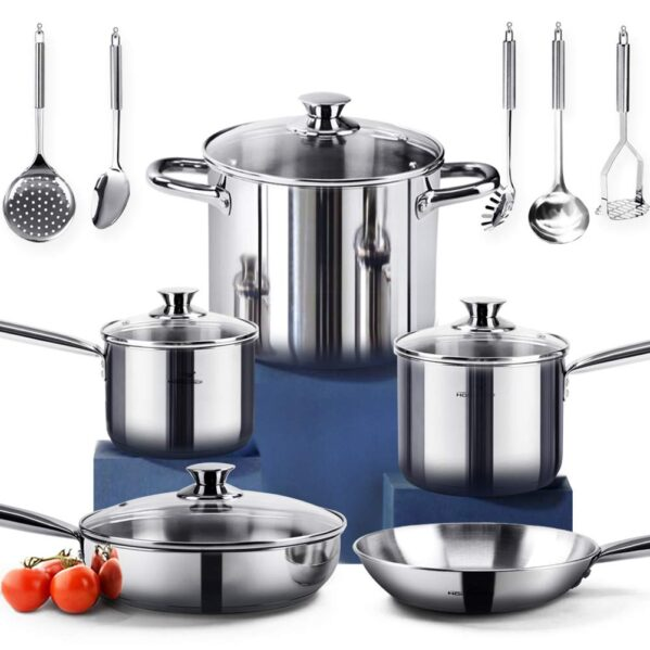 HOMI CHEF 14-Piece Nickel Free Stainless Steel