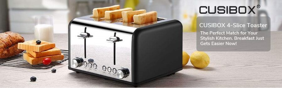 CUSIBOX 4 slices Stainless Steel Toaster