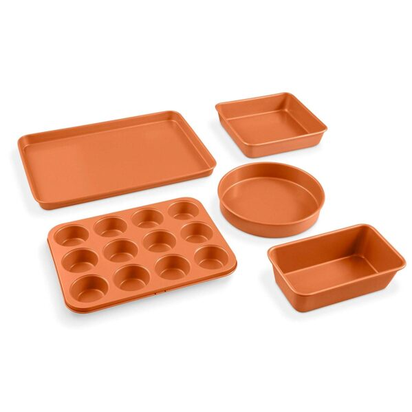 Gotham Steel 5 Piece Complete Copper Nonstick Bakeware Set