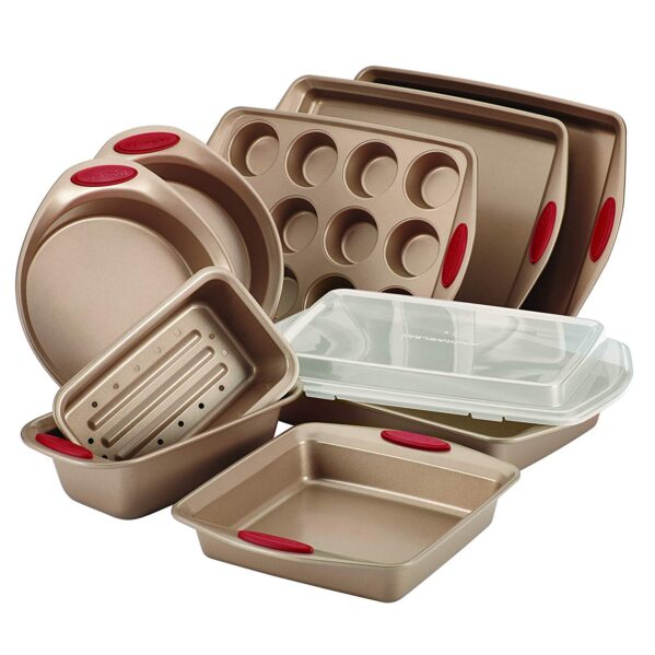 Rachael Ray 52410 10-Piece Steel Bakeware Set