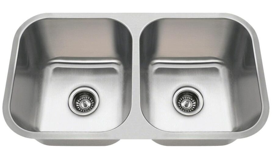 MR Direct 3218A Double Bowl Stainless Steel Kitchen Sink
