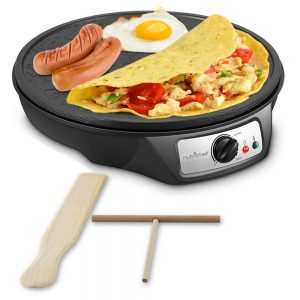 NutriChef Nonstick 12-Inch Electric Crepe Maker