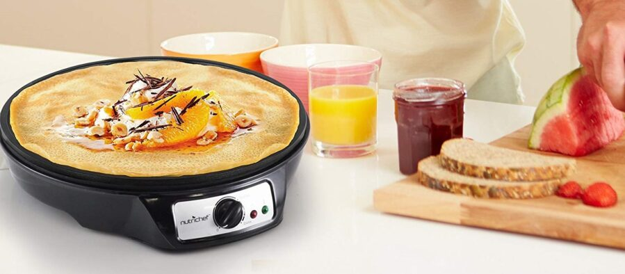 NutriChef Nonstick 12-Inch Electric Crepe Maker.