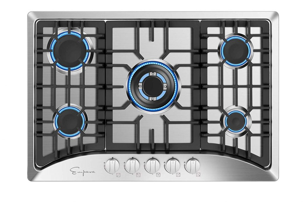 Empava EMPV-30GC5B70C Gas Stove Cooktop Stainless Steel