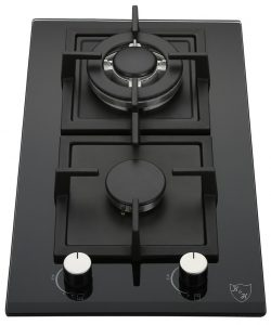 K&H 2-GCW-LPG Gas Glass Cast Iron Cooktop