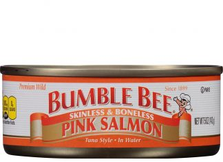 BUMBLE BEE Skinless and Boneless Pink Salmon In Water
