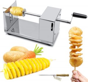 RioRand Manual Stainless-Steel Twisted Potato Slicer