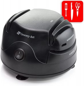 Knife Sharpener Electric 3-in-1 Tool by Grocery Art
