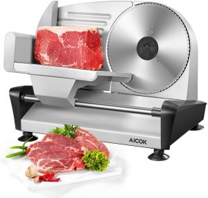 Electric Meat and Deli Food Slicer by AICOK Store