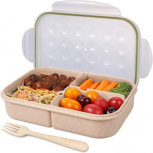 Jeopace Bento 3 Compartment Lunch Box